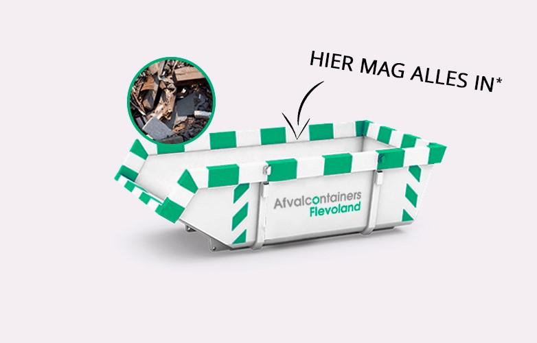 Afvalcontainers Flevoland Bouwcontainer waar alles door elkaar in mag